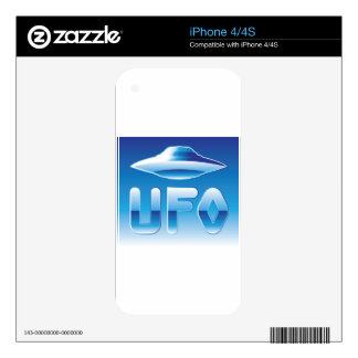 UFO in the sky with abbreviation iPhone 4S Decal