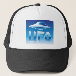 UFO in the sky with abbreviation Trucker Hat