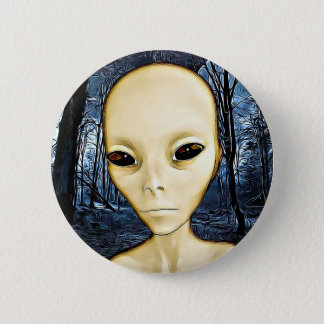 UFO Invasion Alien Greys Button