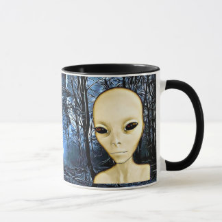 UFO Invasion Alien Greys Coffee Mug