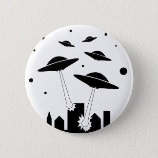 UFO Invasion Pinback Button