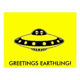 UFO INVASION! POSTCARD