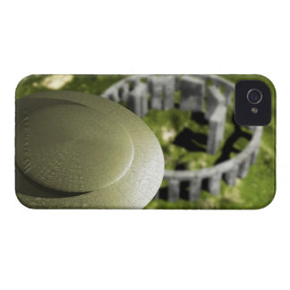 UFO investigating the site of Stonehenge as it iPhone 4 Case-Mate Case