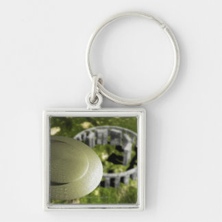 UFO investigating the site of Stonehenge as it Keychain