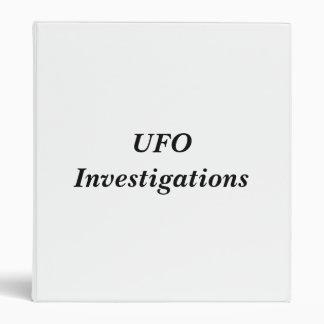 UFO Investigations Binder