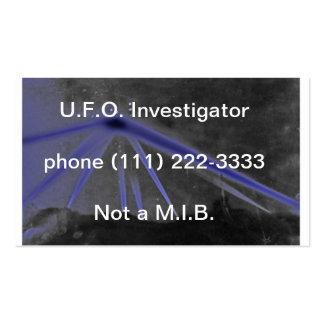 ufo investigator business card
