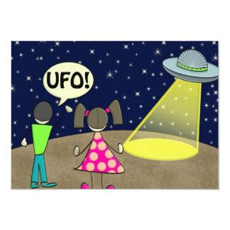 """UFO INVITACIÓN 5"""" X 7"""""""