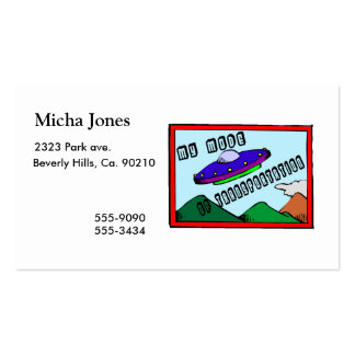 UFO Is My Mode Of Transportation Double-Sided Standard Business Cards (Pack Of 100)