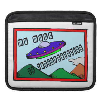 UFO Is My Mode Of Transportation iPad Sleeve