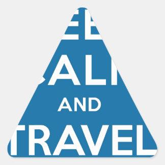 UFO Keep Calm And Travel On Triangle Sticker