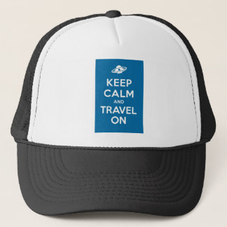 UFO Keep Calm And Travel On Trucker Hat