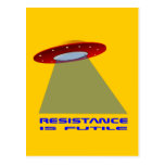 UFO  landing Postcard