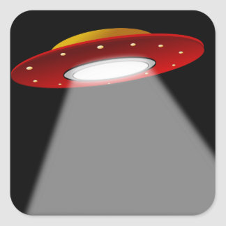 UFO - Nave espacial extranjera Pegatina Cuadrada