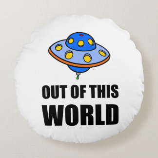 UFO Out Of This World Round Pillow