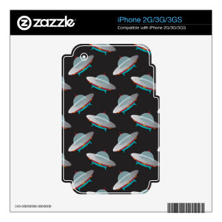 UFO outer space pattern Skin For iPhone 3G