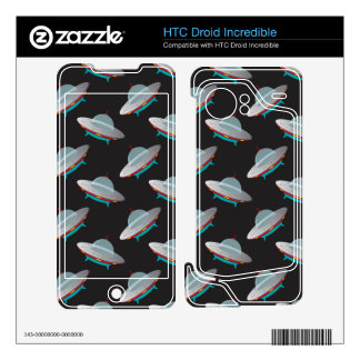 UFO outer space pattern HTC Droid Incredible Skin
