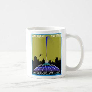 UFO over Chicago - Buckingham Fountain Classic White Coffee Mug
