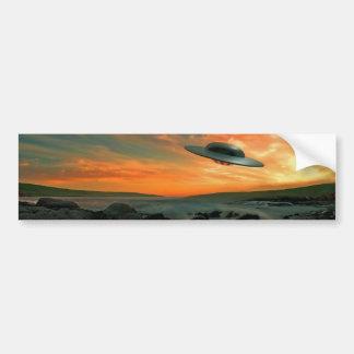 UFO Over Coast Bumper Sticker