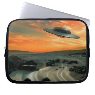 UFO Over Coast Laptop Computer Sleeves