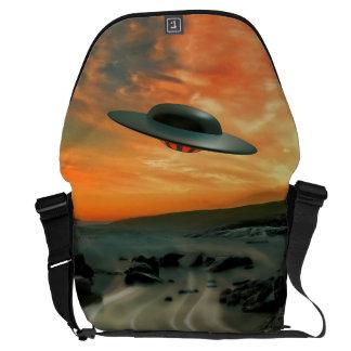 UFO Over Coast Messenger Bag
