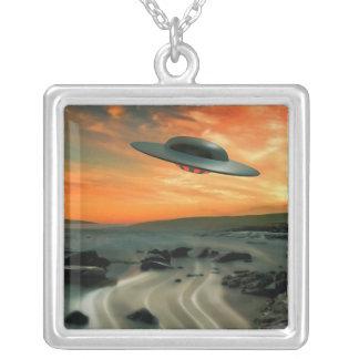 UFO Over Coast Pendant
