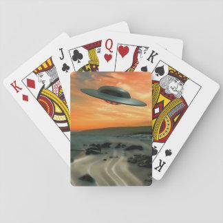 UFO Over Coast Card Deck