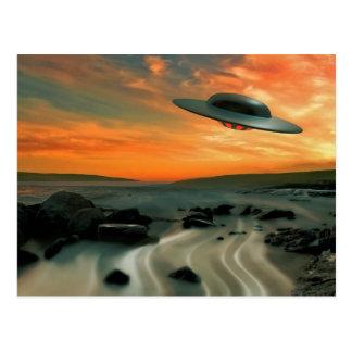 UFO Over Coast Postcard