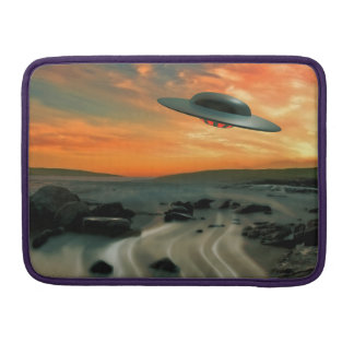 UFO Over Coast Sleeves For MacBooks