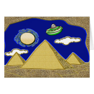 UFO Over Egypt Greeting Card