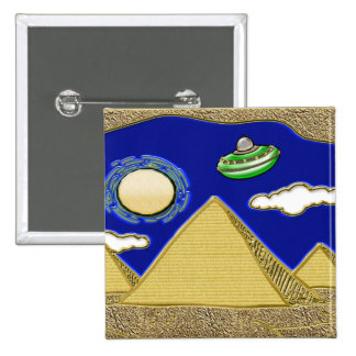 UFO Over Egypt Pinback Button