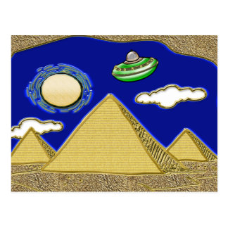UFO Over Egypt Post Cards