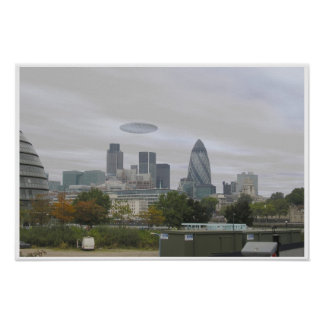 UFO over London Print