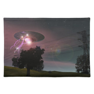 UFO Over Powerlines 2 American MoJo Placemats