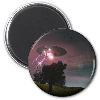 UFO Over Powerlines 2 Magnet