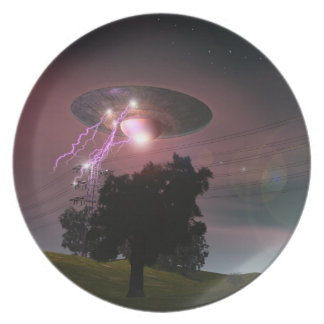 UFO Over Powerlines 2 Plate