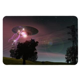 UFO Over Powerlines 2 Premium Flexi Magnet