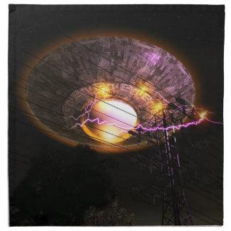 UFO Over Powerlines American MoJo Napkins
