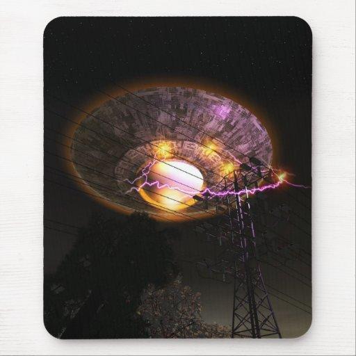 UFO Over Powerlines Mousepad