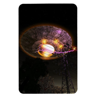 UFO Over Powerlines Premium Flexi Magnet