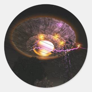 UFO Over Powerlines Sticker