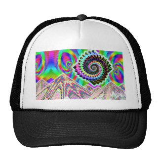 UFO over the Mountains... Visionary ART Hats