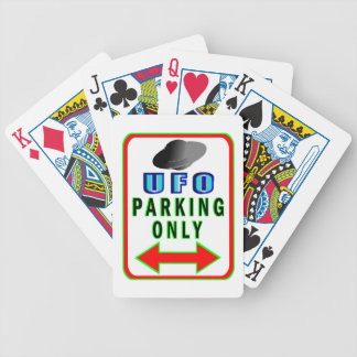 UFO Parking Only Bicycle Playing Cards
