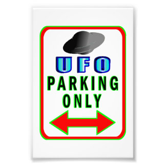 UFO Parking Only Photo Print