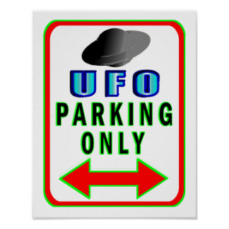 UFO Parking Only Poster