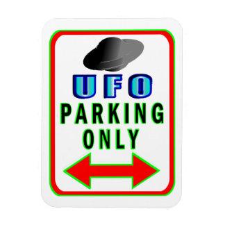 UFO Parking Only Rectangular Photo Magnet