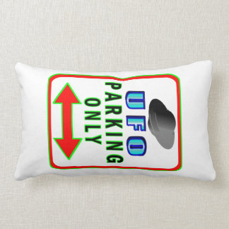 UFO Parking Only Throw Pillow