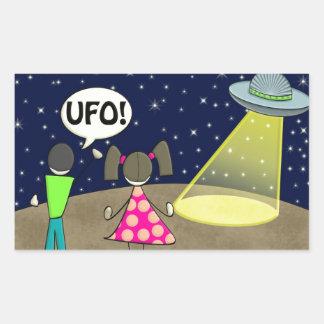 UFO PEGATINA RECTANGULAR