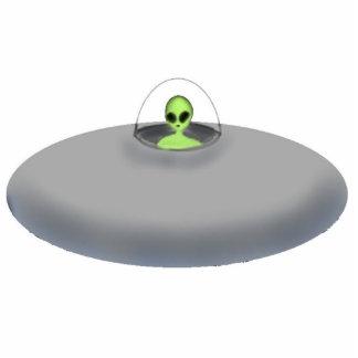 UFO photo sculpture keychain
