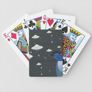 UFO playing cards