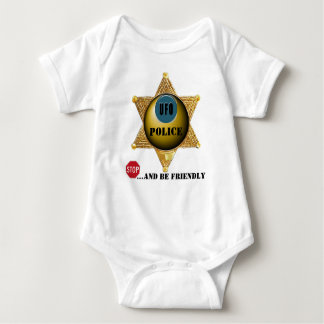 UFO Police Stop and be Friendly Baby Bodysuit